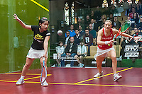 Laura Massaro (ENG) vs. Annie Au (HKG) in the women's quarterfinals of the 2014 METROsquash Windy City Open held at the University Club of Chicago in Chicago, IL on March 1, 2014