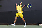 14 May 2016: Michigan's Alex Knight. The Wake Forest University Demon Deacons hosted the University of Michigan Wolverines at the Wake Forest Tennis Center in Winston-Salem, North Carolina in a 2015-16 NCAA Division I Men's Tennis Tournament Second Round match. Wake Forest won the match 4-2.