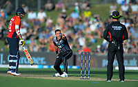 New Zealand's Trent Boult appeals during the 4th Twenty20 International cricket match between NZ Black Caps and England at McLean Park in Napier, New Zealand on Friday, 8 November 2019. Photo: Dave Lintott / lintottphoto.co.nz