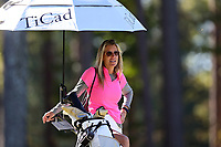 CHAPEL HILL, NC - OCTOBER 11: Head coach Kim Lewellen of Wake Forest University at UNC Finley Golf Course on October 11, 2019 in Chapel Hill, North Carolina.