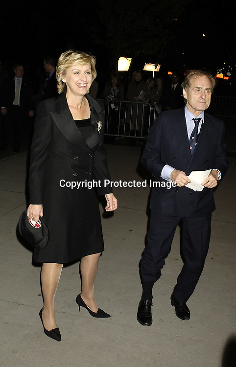 Tina Brown and Harry Evans ..at The Museum of Modern Art for a party for Prince Charles and The Duchess of Cornwall on November 1, 2005. ..Photo by  Robin Platzer, Twin Images