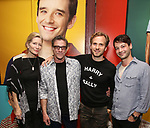 "Anna Holbrook, Lou Liberatore, Ryan Spahn and Leland Wheeler attend then Broadway Family invite to The Final Dress Rehearsal Of Harvey Fierstein's ""Torch Song"" on October 8, 2018 at the Hayes Theatre in New York City."