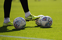 A view of Mitre match balls during the pre-match warm-up <br /> <br /> Photographer Kevin Barnes/CameraSport<br /> <br /> The EFL Sky Bet Championship - Blackburn Rovers v Millwall - Saturday September 14th 2019 - Ewood Park - Blackburn<br /> <br /> World Copyright © 2019 CameraSport. All rights reserved. 43 Linden Ave. Countesthorpe. Leicester. England. LE8 5PG - Tel: +44 (0) 116 277 4147 - admin@camerasport.com - www.camerasport.com