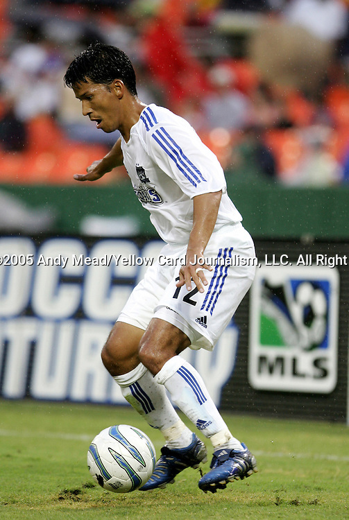 15 July 2005: Mark Chung. DC United defeated the San Jose Earthquakes 3-0 at RFK Stadium in Washington, DC in a regular season Major League Soccer game.