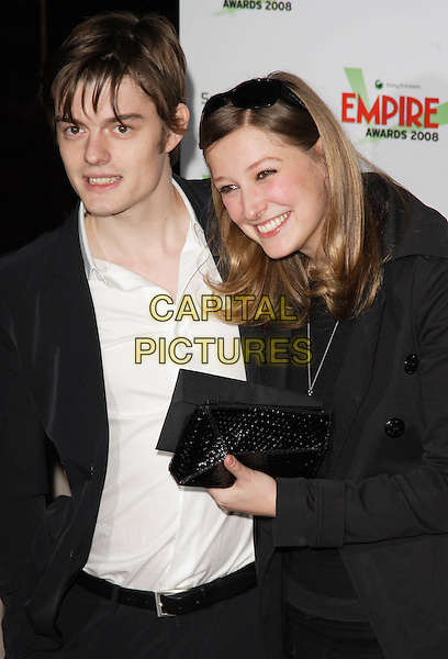 SAM REILLY, ALEXANDRA MARIA LARA.Empire Film Awards held at the Grosvenor House Hotel, Park Lane, London, USA, March 9th 2008..half length riely.CAP/ROS.©Steve Ross/Capital Pictures