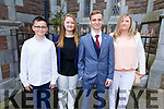 Krystian Lewandowski at her Mercy Mounthawk Graduation ceremony in St John's on Friday.<br /> L to r: Alan Langa, Krystian and Wiktoria Lewandowski and Monika Langa.
