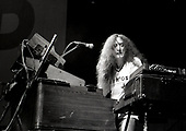 URIAH HEEP - Ken Hensley on keyboards - performing live on the 10th Anniversary tour at the Odeon in Birmingham UK - 01 Feb 1980.  Photo credit: George Bodnar Archive/IconicPix