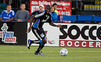 Cornell Glen dribbles the ball. The San Jose Earthquakes tied DC United 2-2 at Buck Shaw Stadium in Santa Clara, California on July 25, 2009.