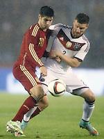 Spain's Alvaro Morata (l) and Germany's Mustafi during international friendly match.November 18,2014. (ALTERPHOTOS/Acero) /NortePhoto<br /> NortePhoto.com