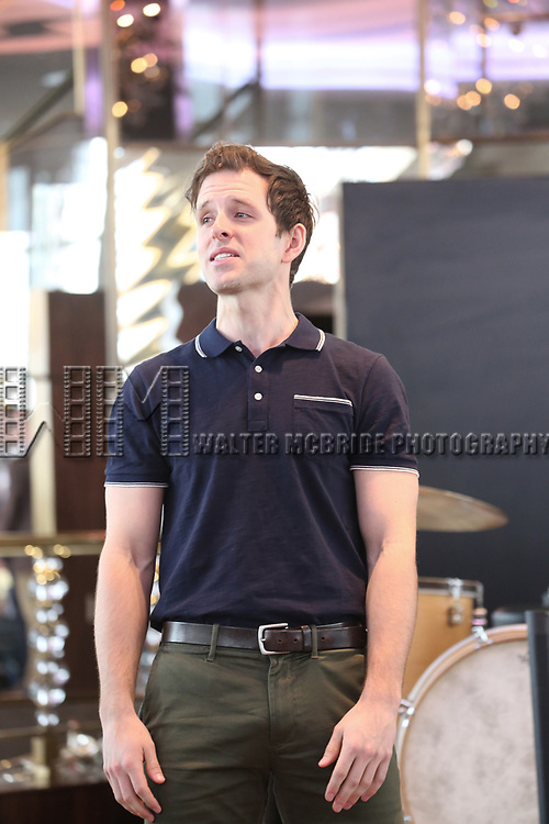 Joe Carroll performs during the 'Bandstand' Broadway cast press presentation at the Rainbow Room on March 7, 2017 in New York City.