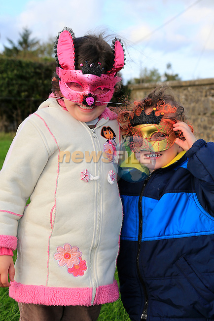 Lauren and Jonah Right Byrne at the fancy dress in Slane<br /> Picture: Fran Caffrey www.newsfile.ie