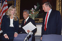 Donald Trump &amp; Marla Maples with Mayor<br />