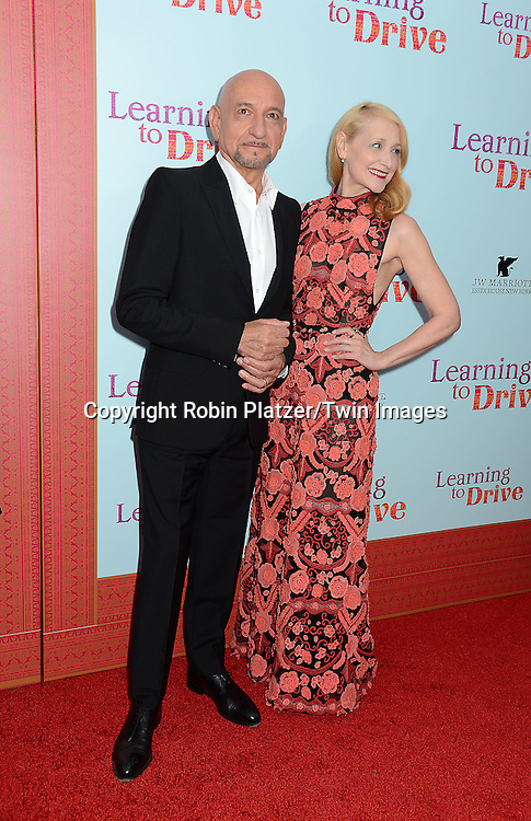 Sir Ben Kingsley and Patricia Clarkson  attend the NewYork VIP Premiere of &quot;Learning to Drive&quot;<br /> on August 17, 2015 at The Paris Theatre in New York City, New York, USA. <br /> <br /> photo by Robin Platzer/Twin Images<br />  <br /> phone number 212-935-0770