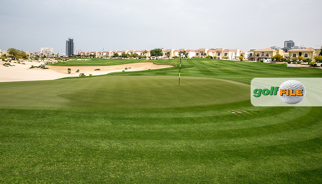 6th green at The Els Club , Dubai, United Arab Emirates.  28/01/2016. Picture: Golffile | David Lloyd<br /> <br /> All photos usage must carry mandatory copyright credit (&copy; Golffile | David Lloyd)