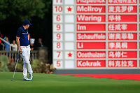 Matthew Fitzpatrick (ENG) on the 18th during the 3rd round of the WGC HSBC Champions, Sheshan Golf Club, Shanghai, China. 02/11/2019.<br /> Picture Fran Caffrey / Golffile.ie<br /> <br /> All photo usage must carry mandatory copyright credit (© Golffile | Fran Caffrey)