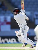 25th March 2018, Auckland, New Zealand;  New Zealand's Henry Nicholls batting New Zealand versus England. 1st day-night test match. Eden Park, Auckland, New Zealand. Day 4