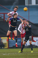 Fraser Franks of Stevenage and Oliver Lee of Luton Town during Stevenage vs Luton Town, Sky Bet EFL League 2 Football at the Lamex Stadium on 10th February 2018
