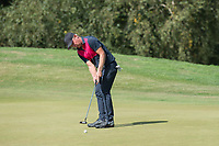 Jeppe Pape Huldahl putts for par on the 15th during the final round of the  Bridgestone Challenge, Luton Hoo Hotel, Bedfordshire, England. 09/09/2018.<br /> Picture  / Golffile.ie<br /> <br /> All photo usage must carry mandatory copyright credit (&copy; Golffile | )