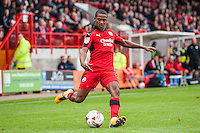 Lewis Young of Crawley Town (2)  during the Sky Bet League 2 match between Crawley Town and Luton Town at the Broadfield/Checkatrade.com Stadium, Crawley, England on 17 September 2016. Photo by Edward Thomas / PRiME Media Images.