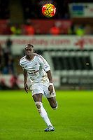 Modou Barrow of Swansea in action during the Barclays Premier League match between Swansea City and Sunderland played at the Liberty Stadium, Swansea  on  January the 13th 2016