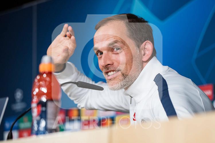 PSG's coach Thomas Tuchel during training session. <br /> November 25 ,2019.<br /> (ALTERPHOTOS/David Jar)