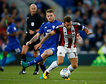 Aron Gunnarsson of Cardiff City and Billy Sharp of Sheffield Utd during the Championship match at the Cardiff City Stadium, Cardiff. Picture date: August 15th 2017. Picture credit should read: Simon Bellis/Sportimage