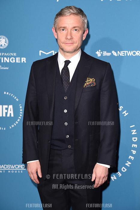 LONDON, UK. December 02, 2018: Martin Freeman at the British Independent Film Awards 2018 at Old Billingsgate, London.<br /> Picture: Steve Vas/Featureflash