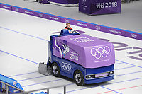 OLYMPIC GAMES: PYEONGCHANG: 16-02-2018, Gangneung Oval, Long Track, ice resurfacing machine, ©photo Martin de Jong
