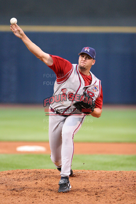 Round Rock Express pitcher Jason Hirsh during the Triple-A All-Star Game at Fifth Third Field on July 12, 2006 in Toledo, Ohio.  (Mike Janes/Four Seam Images)