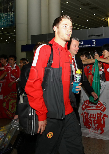 22.07.2012.  Shanghai, CHINA; Manchester United arrive in Shanghai as their globetrotting pre-season exploits continue. Manchester UNited will play Shanghai Shenhua in Shanghai on the 25th July.