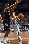 GLENDALE, AZ - APRIL 03: Nate Britt #0 of the North Carolina Tar Heels drives the lane past Jordan Mathews #4 of the Gonzaga Bulldogs during the 2017 NCAA Men's Final Four National Championship game at University of Phoenix Stadium on April 3, 2017 in Glendale, Arizona.  (Photo by Brett Wilhelm/NCAA Photos via Getty Images)