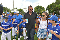 MIAMI, FL - JULY 11: Alex Rodriguez (A-Rod) and daughter Ella Alexander attend the All-Star Week Legacy Project with A-Rod & Giancarlo Stanton at Boys & Girls Clubs of Miami-Dade on July 11, 2017 in Miami, Florida. Credit: MPI10 / MediaPunch