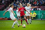 01.05.2019, RheinEnergie Stadion , Köln, GER, DFB Pokalfinale der Frauen, VfL Wolfsburg vs SC Freiburg, DFB REGULATIONS PROHIBIT ANY USE OF PHOTOGRAPHS AS IMAGE SEQUENCES AND/OR QUASI-VIDEO<br /> <br /> im Bild | picture shows:<br /> Pernille Harder (VfL Wolfsburg #22) sieht, wie Ewa Pajor (VfL Wolfsburg #17) zum 1:0 trifft, <br /> <br /> Foto © nordphoto / Rauch