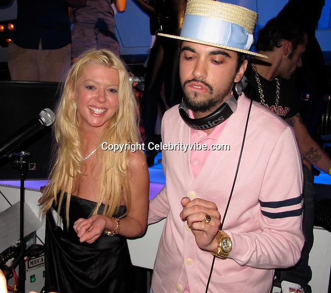 Tara Reid and DJ Cassidy..VIP Room Nightclub..St. Tropez, France..Thursday, July 29, 2010..Photo By iSnaper.com/ CelebrityVibe.com.To license this image please call (212) 410 5354; or Email: CelebrityVibe@gmail.com ; .website: www.CelebrityVibe.com.
