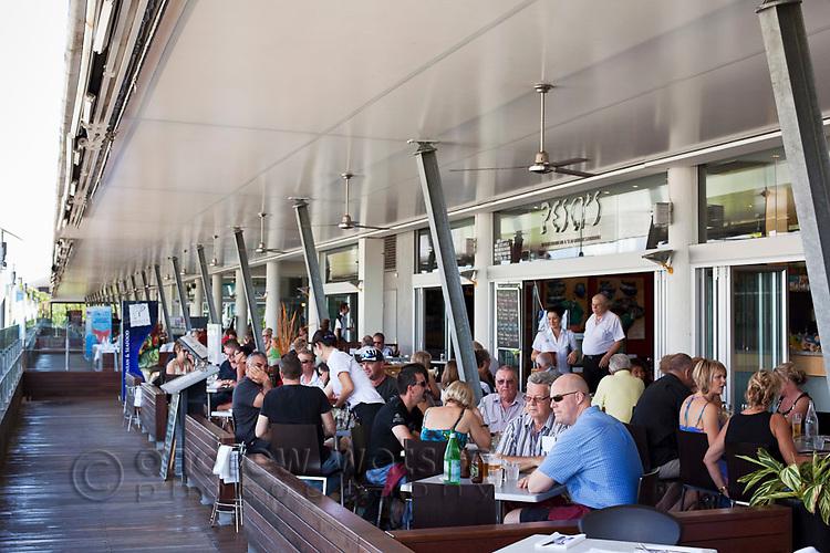 Diners at Pesci's Restaurant.  The Pier, Cairns, Queensland, Australia
