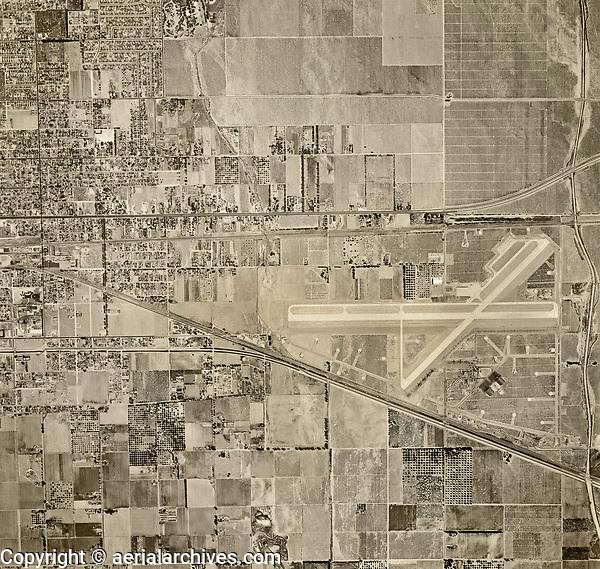 historical aerial photograph Ontario airport, San Bernadino County, California, 1948
