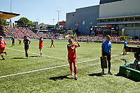 Portland, OR - Saturday July 15, 2017: Hayley Raso during a regular season National Women's Soccer League (NWSL) match between the Portland Thorns FC and the North Carolina Courage at Providence Park.