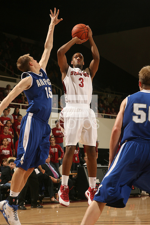 Stanford, CA - NOVEMBER 26:  Guard Jarrett Mann #3 of the Stanford Cardinal during Stanford's 76-57 win against the Air Force Academy Falcons on November 26, 2008 at Maples Pavilion in Stanford, California.