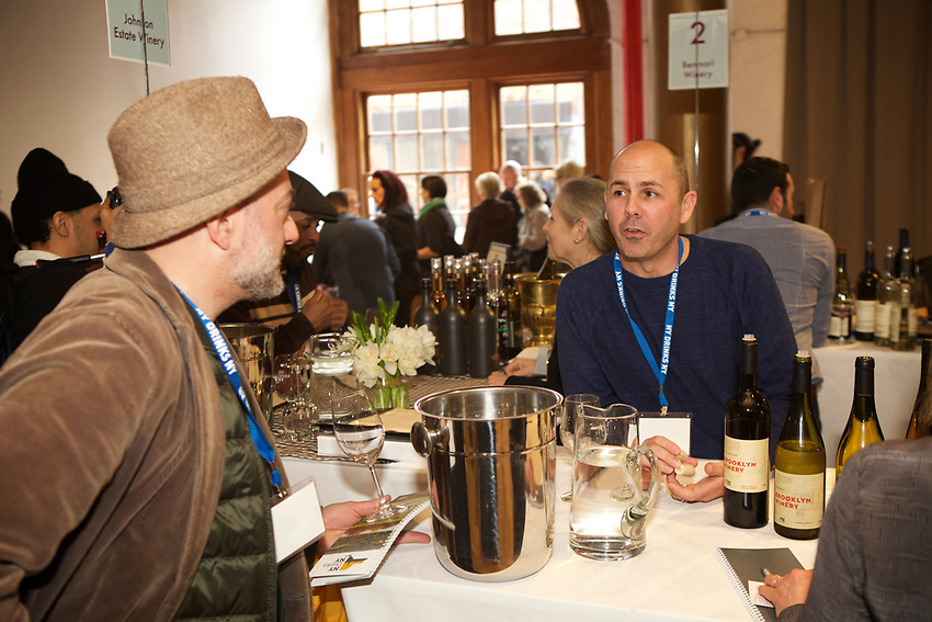 NEW YORK, NY - March, 7, 2017: The NY Drinks NY Grand Tasting, hosted by the New York Wine and Grape Foundation for industry and consumers at the Altman Building in Chelsea.<br /> <br /> Credit: Clay Williams.<br /> <br /> &copy; Clay Williams / http://claywilliamsphoto.com