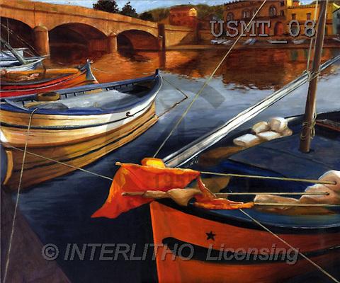 Malenda, LANDSCAPES, paintings(USMT08,#L#) Landschaften, Schiffe, paisajes, barcos, llustrations, pinturas