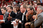 MADISON, WI - NOVEMBER 8: The coaching staff of the Wisconsin Badgers watches the game against the Carroll College Pioneers at the Kohl Center on November 8, 2006 in Madison, Wisconsin. The Badgers beat the Pioneers 81-61. (Photo by David Stluka)
