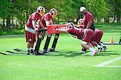 Defensive linemen participates in drills during the Washington Redskins' rookie minicamp at Redskins Park in Ashburn, Virginia on Sunday, May 5, 2013..Credit: Ron Sachs / CNP
