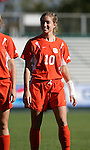 Clemson's Jenny Smith on Wednesday, November 2nd, 2005 at SAS Stadium in Cary, North Carolina. The Florida State University Seminoles defeated the Clemson University Tigers 4-0 during their Atlantic Coast Conference Tournament Quarterfinal game.