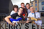 Tralee Group 2 Day Nation in the Battle of the Bands in the Square on Saturday during the Rose of Tralee John O'Donnell, Darragh Collins, David Ryall, Conor Breen, John O'Connor.