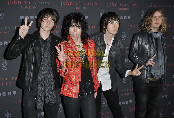 LONDON, ENGLAND - SEPTEMBER 03: The Struts attend the John Varvatos flagship store launch party, John Varvatos, Conduit St., on Wednesday September 03, 2014 in London, England, UK. <br /> CAP/CAN<br /> &copy;Can Nguyen/Capital Pictures