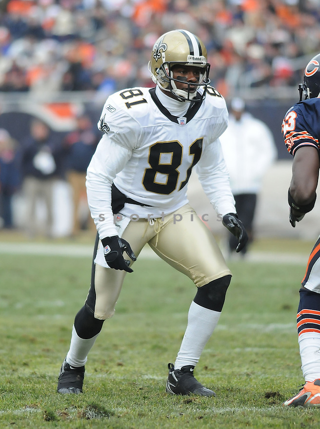 DAVID PATTEN, of the New Orleans Saints  in action during the Saints game against the Chicago Bears on December 30, 2007 in Chicago, Illinois...BEARS win 33-25..SportPics