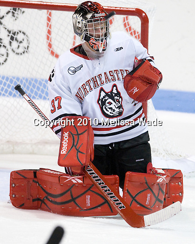 Chris Rawlings (Northeastern - 37) - The visiting Rensselaer Polytechnic Institute Engineers tied their host, the Northeastern University Huskies, 2-2 (OT) on Friday, October 15, 2010, at Matthews Arena in Boston, MA.