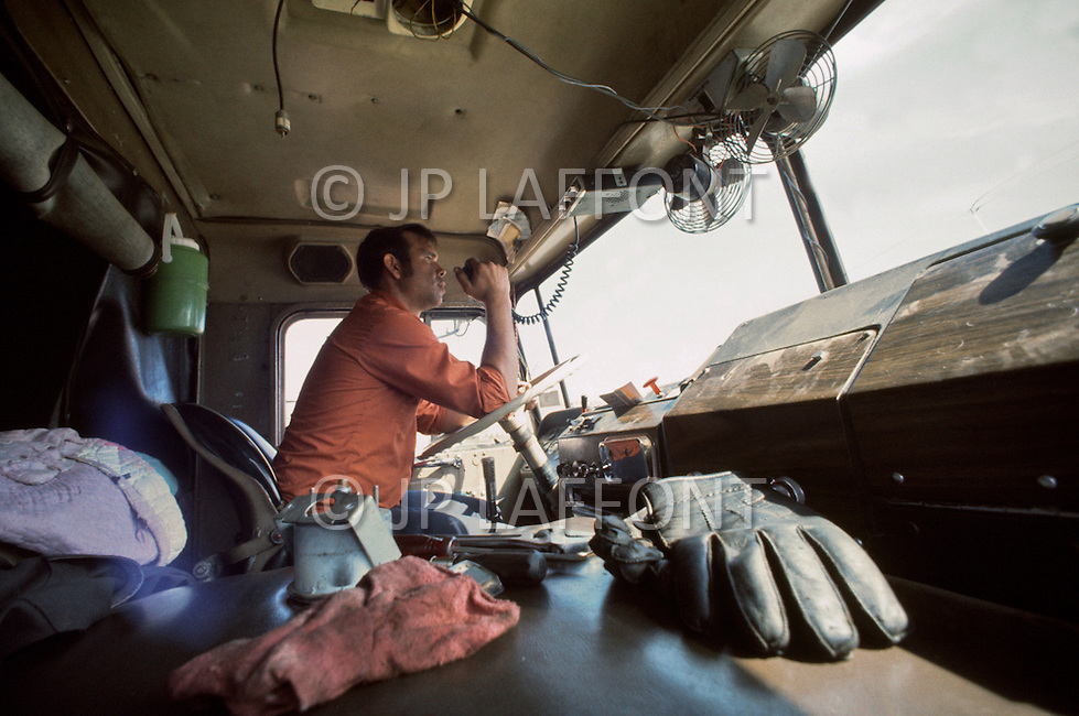"Texas, 1978. A truck driver calling his buddies, using his CB radio. ""-You cannot go on the road without the CB."""