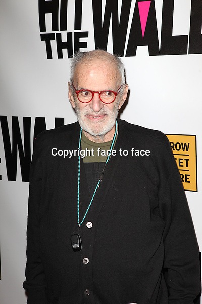 """Larry Kramer attending the New York Premiere of the Opening Night Performance of """"Hit The Wall"""" at the Barrow Street Theatre in New York City on 3/10/2013...Credit: McBride/face to face"""