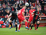 15.02.2020, Stadion an der Wuhlheide, Berlin, GER, 1.FBL, 1.FC UNION BERLIN  VS. Bayer Leverkusen, <br /> DFL  regulations prohibit any use of photographs as image sequences and/or quasi-video<br /> im Bild Marius Buelter (1.FC Union Berlin #15), Nicolai Rapp (1.FC Union Berlin #18), <br /> Lars Bender (Bayer Leverkusen #8), Sven Bender (Bayer Leverkusen #5)<br /> <br />      <br /> Foto © nordphoto / Engler
